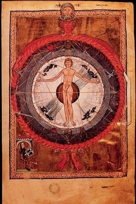 códice-de-santa-hildegarda-hombre-en-el-centro-del-universo-s-xii-bibliteca-de-lucca-italia